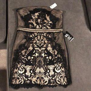 Express Black/Nude Tube Dress Size 4